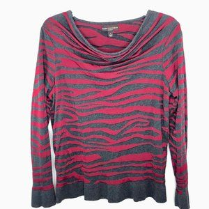 Dana Buchman Cowl Neck Long Sleeve Top - L